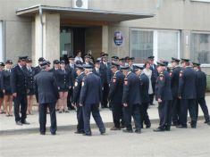 Svěcení praporu a hasiči